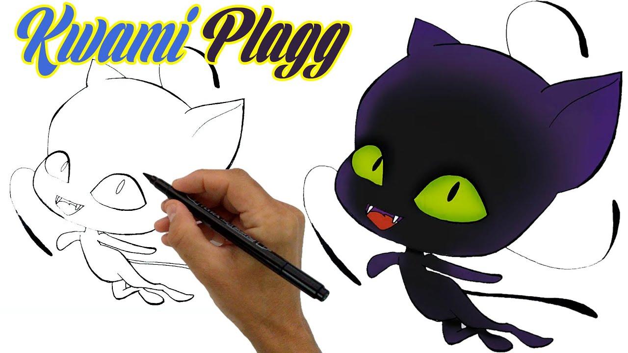 Mucizevi Uğur Böceği Kwami Plagg  Nasıl Çizilir - Marinette'den Kwami'nin Çizimi