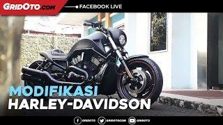Modifikasi Harley-Davidson Night Rod Berkelir Hitam Dof Imagineering Customs