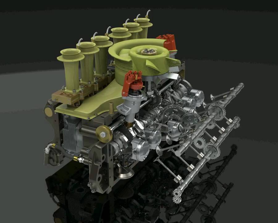 Free Animated 3d Live Wallpaper Porsche 917 Engine Animation Youtube