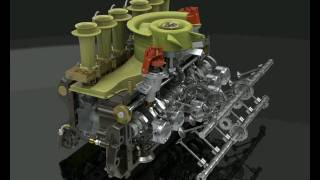 PORSCHE 917 ENGINE ANIMATION