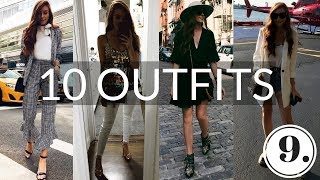 WHAT I WORE IN A WEEK - 10 OUTFITS - Vlog #9