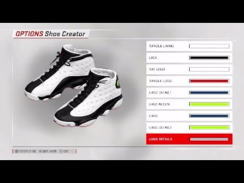 NBA 2k18 Custom Kicks  {Air Jordan 13 Retro HE GOT GAMEs}