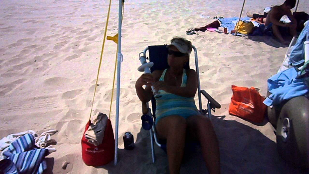 A Sand Convert Loves The New Beach Umbrella Anchor Shade
