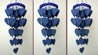 DIY Easy & Simple Wall Hanging || How To Make Old Jeans Jhumar