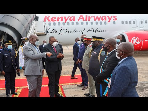 PRESIDENT UHURU ARRIVES IN KINSHASA, CONGO FOR A THREE-DAY STATE VISIT!!