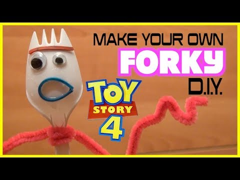 Toy Story 4   FORKY How To Make   DIY Step by Step Kids Craft
