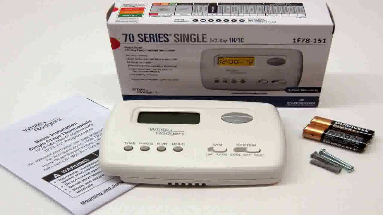 Emerson 1f78 151 5 2 Day Programmable Thermostat For