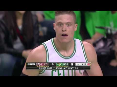 "Jonas ""Swedish Larry Bird"" Jerebko Highlights vs. Atlanta Hawks (11 points, 12 rebounds, 4 assists)"
