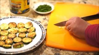 Закуска из кабачков с зеленью, чесноком и майонезом_Zucchini appetizer with garlic, dill and mayo