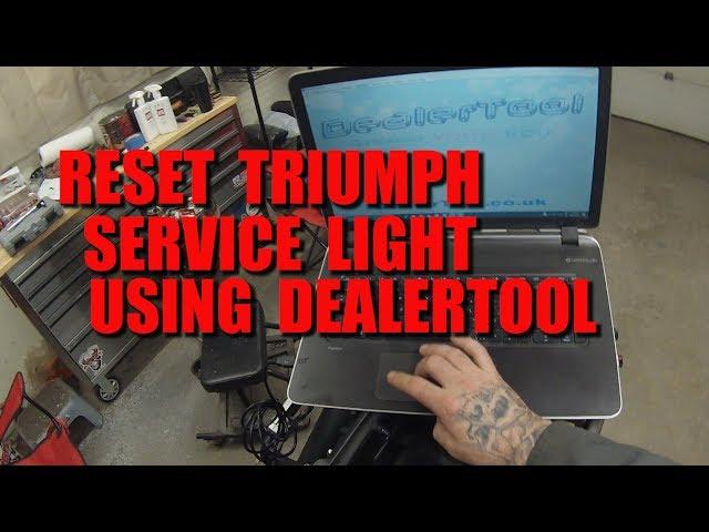Reset Your Triumph Service Light Without A Dealer - DealerTool - YouTube