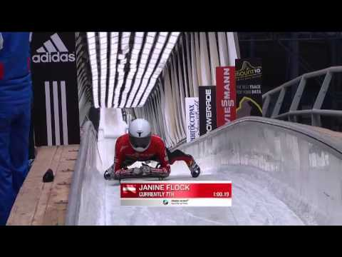 Sochi WC Women's Skeleton Heat 1, February 16 2013