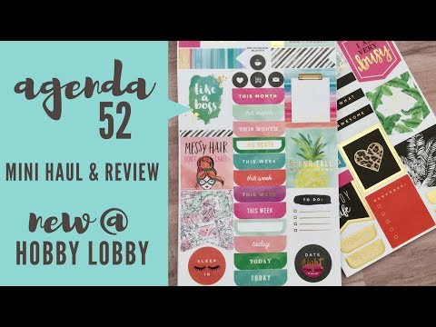 Agenda 52 New @ Hobby Lobby | Mini Haul & Review
