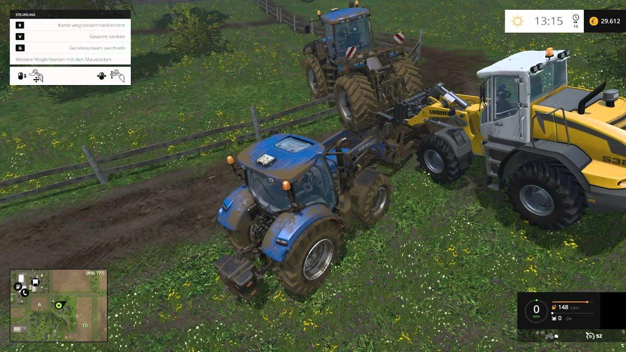✘Oh nein..scheiß Traktor hängt im Zaun✘ Landwirtschafts ...