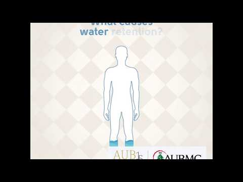 What causes water retention?
