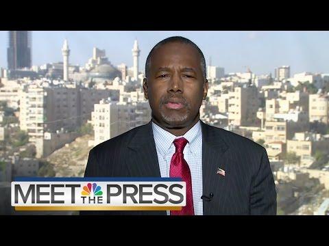 Dr. Ben Carson On His Trip To Jordan (Full Interview)   Meet The Press   NBC News