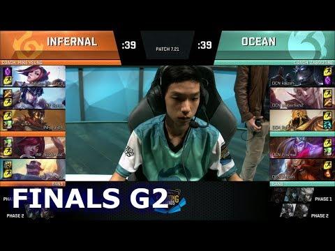 Team Ocean Drake vs Team Infernal Drake | Game 2 Finals of NA Scouting grounds 2017 | OCN vs INF G2