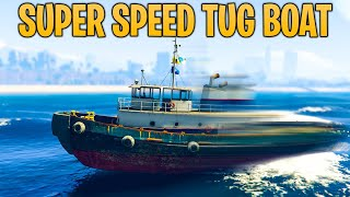GTA Online DID YOU KNOW? How To Make the Tug Boat Go WAY Faster