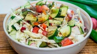 Салат овощной Весенний Быстрорецеп