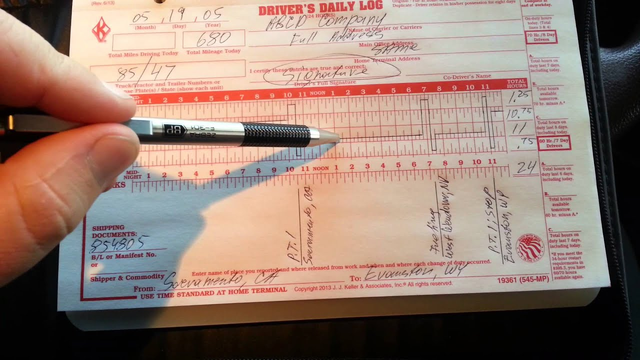 How to Fill Out a Truck Driver Log Book | NEW and UPDATED Video ...