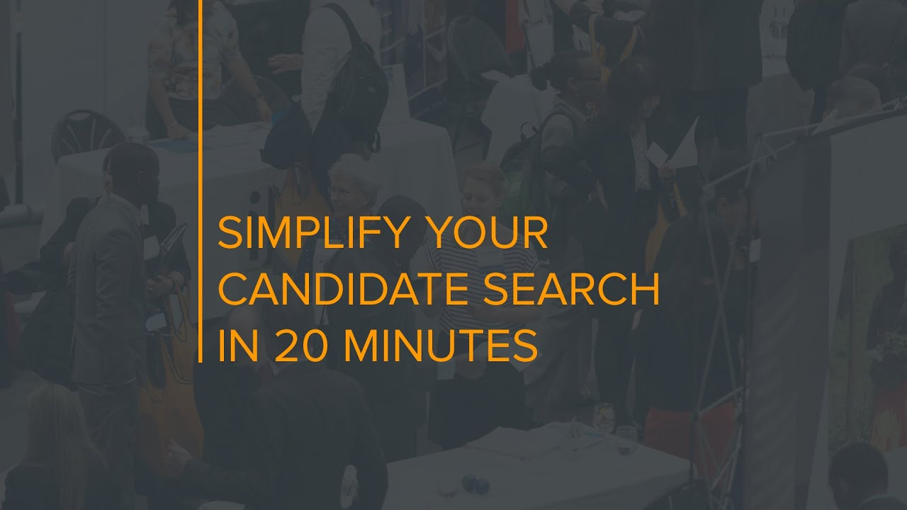How to simplify your candidate search in 20 minutes - YouTube
