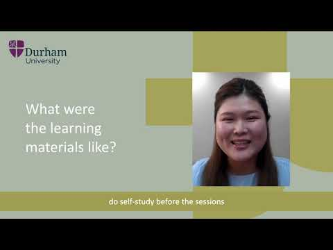 A student's view of Online Presessional