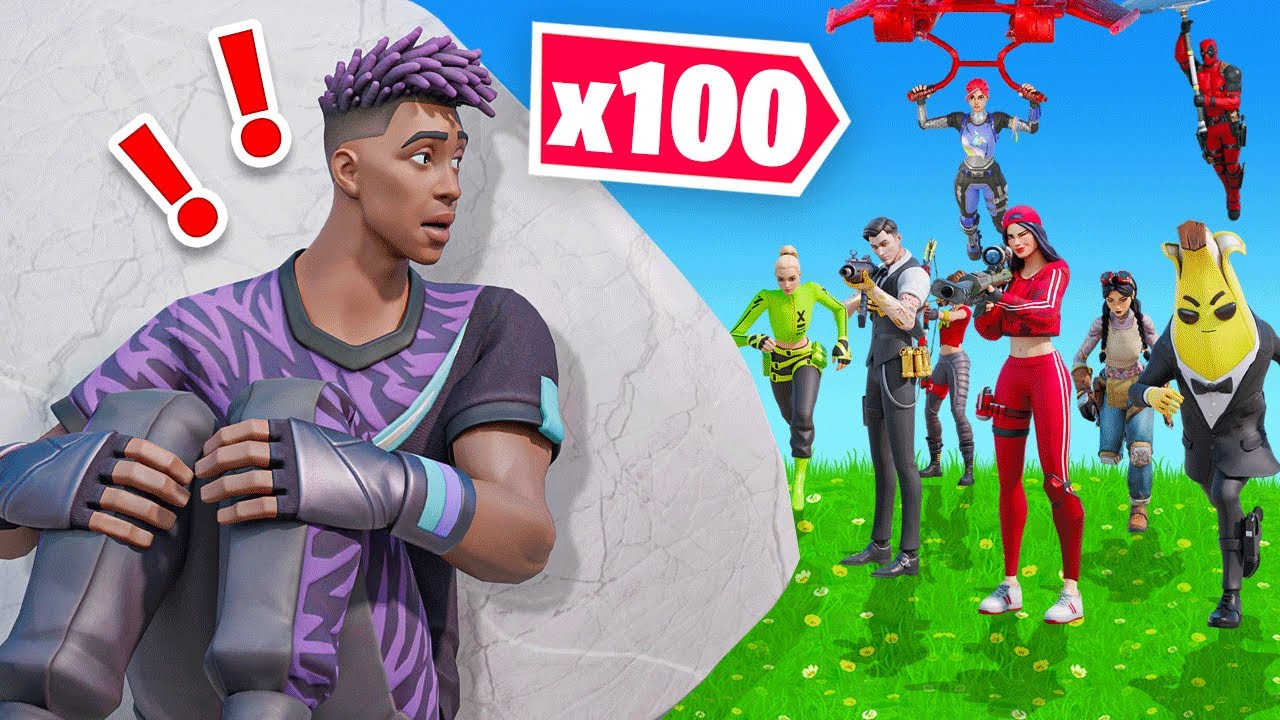 TRY TO SURVIVE vs 100 Stream Snipers! (Fortnite)