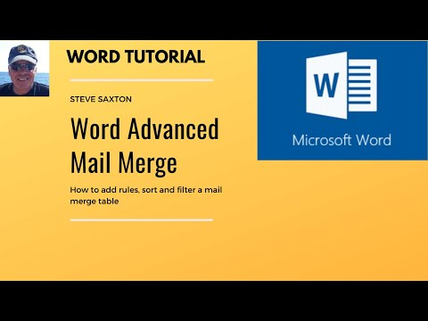 How To Use The Advanced Mail Merge Features In Microsoft Word