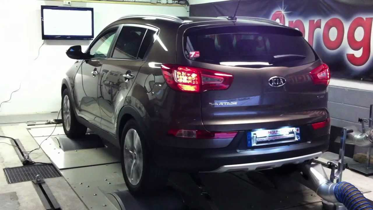 test dyno reprogrammation moteur kia sportage 2l crdi 136 184ch o2programmation youtube. Black Bedroom Furniture Sets. Home Design Ideas