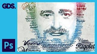 Typographic Portrait   Pavarotti   Adobe Photoshop Tutorial