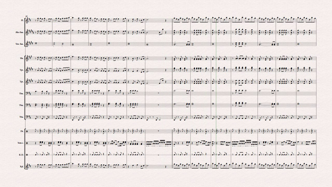 Happy Birthday Marching Band MUSIC sheet