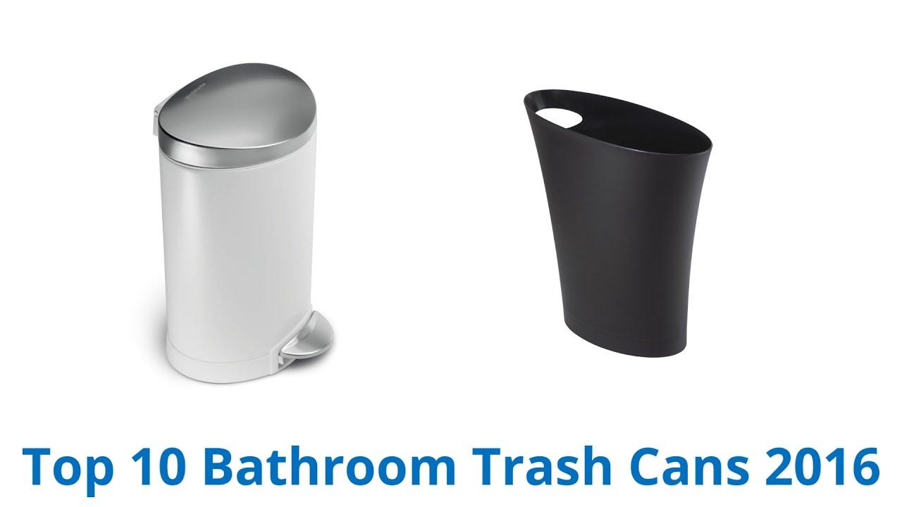 10 best bathroom trash cans 2016 youtube. Black Bedroom Furniture Sets. Home Design Ideas