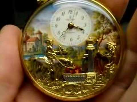 Better Video REUGE AUTOMATON Musical Pocket WATCH