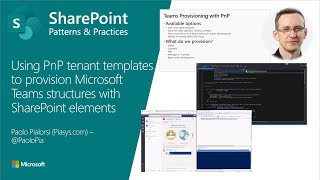 Community demo - Using PnP Tenant Templates to provisioning Microsoft Teams structures thumbnail