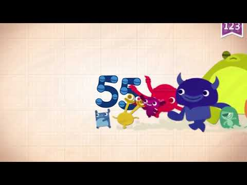 Learn Number 55 In English & Counting, Math By Endless Numbers   Kids Video