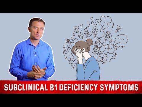 Interesting Subclinical Vitamin B1 Deficiency Symptoms