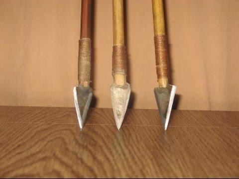 Боевые стрелы для лука своими руками