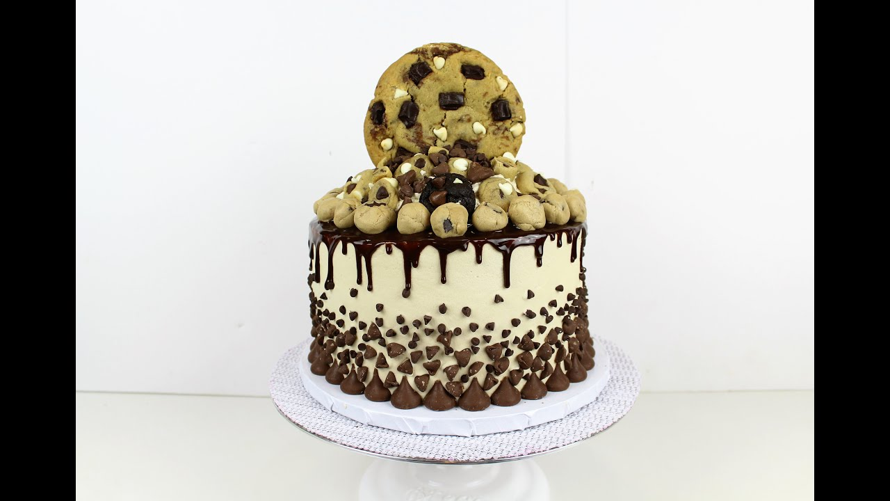 Giant Cookie Dough Cake I CHELSWEETS