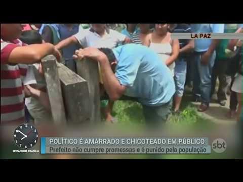 Prefeito de cidade da Bolívia é punido em praça pública por cidadãos | Primeiro Impacto (02/03/18)