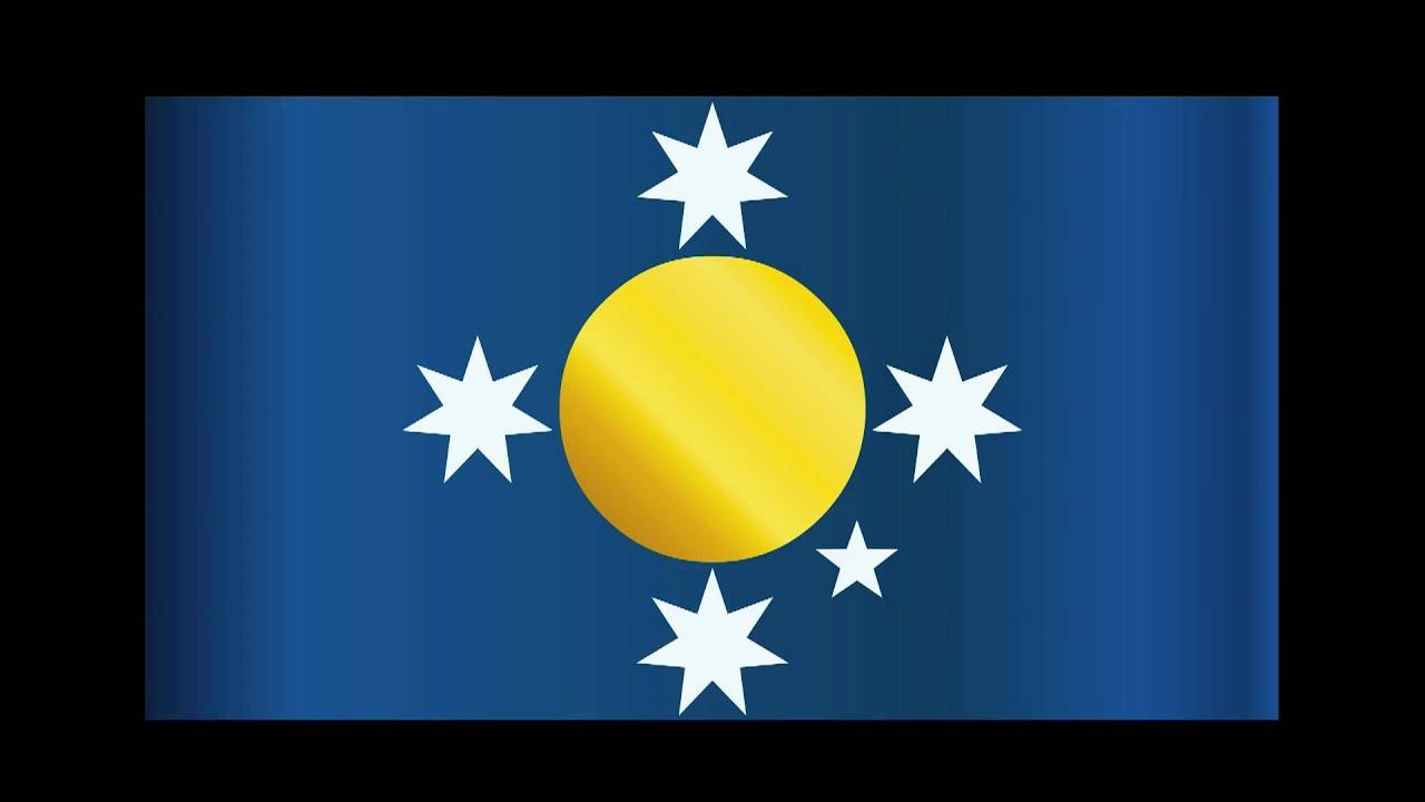 new australian flag design the sun and stars youtube