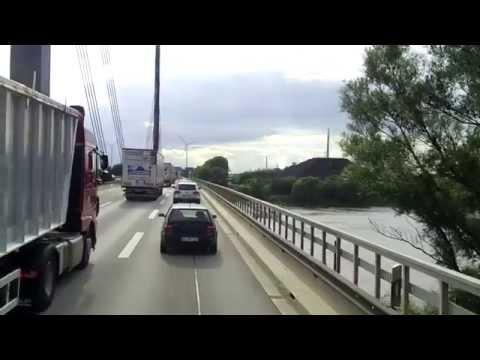 """Życie Kierowcy Na Kontenerach """"Przejazd przez wiecznie zakorkowany Hamburg :("""""""