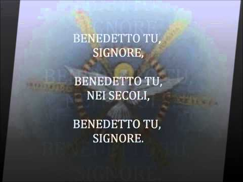 Benedetto Tu, Signore - instrumental   con parole scritte