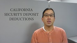 California Security Deposit Deductions - The Law Offices of Andy I. Chen