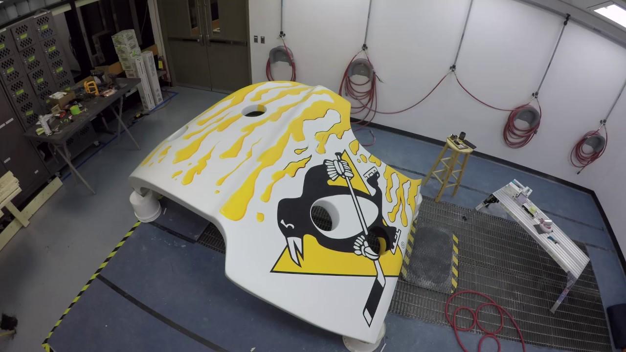 Time Lapse Mask Video Pittsburgh Penguins Goalie Mask Youtube