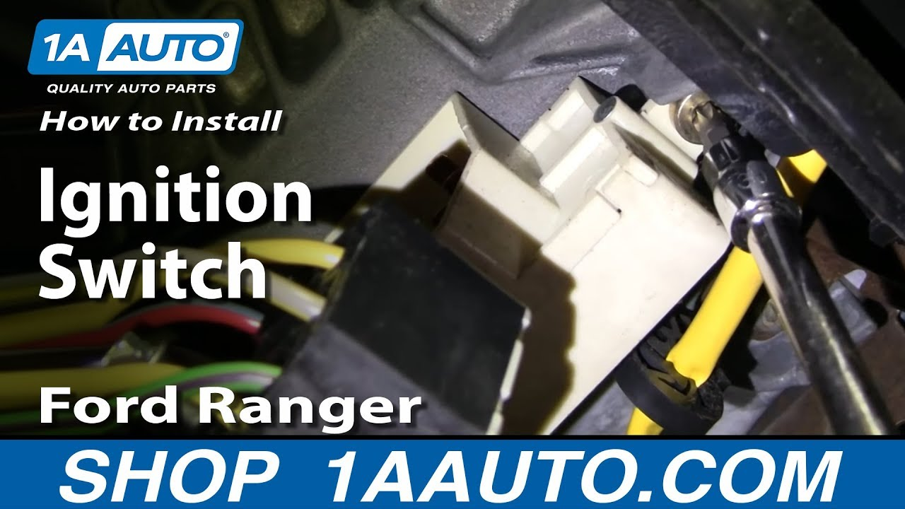 How To Install Replace Ignition Switch Ford Ranger 95 04 1aautocom 1999 Expedition Fuse Relay Box Block Under Dash Youtube