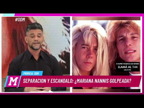 Separación y escándalo: ¿Mariana Nannis golpeada por Caniggia?