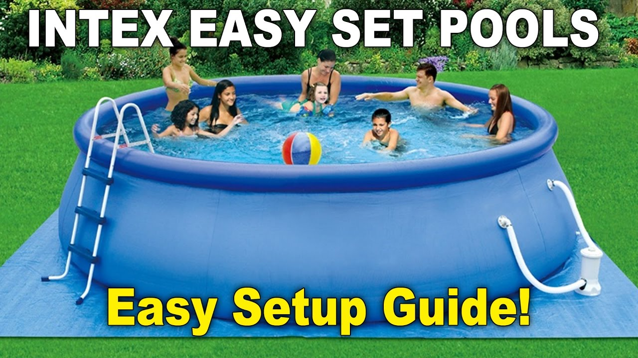 Easy Guide To Setting Up An Intex Easy Set Pool Youtube