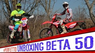 Beta RR Enduro 50 Unboxing e TEST  [ENGLISH SUB]
