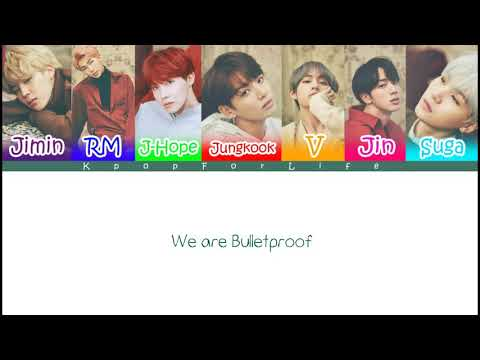 BTS 'We Are Bulletproof PT.1' Color Coded Lyrics