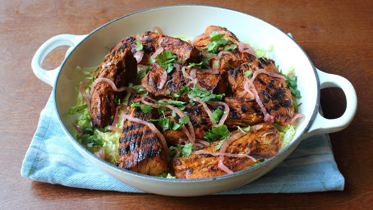 Yucatan-Style Grilled Pork - Spicy Citrus Grilled Pork Recipe ...