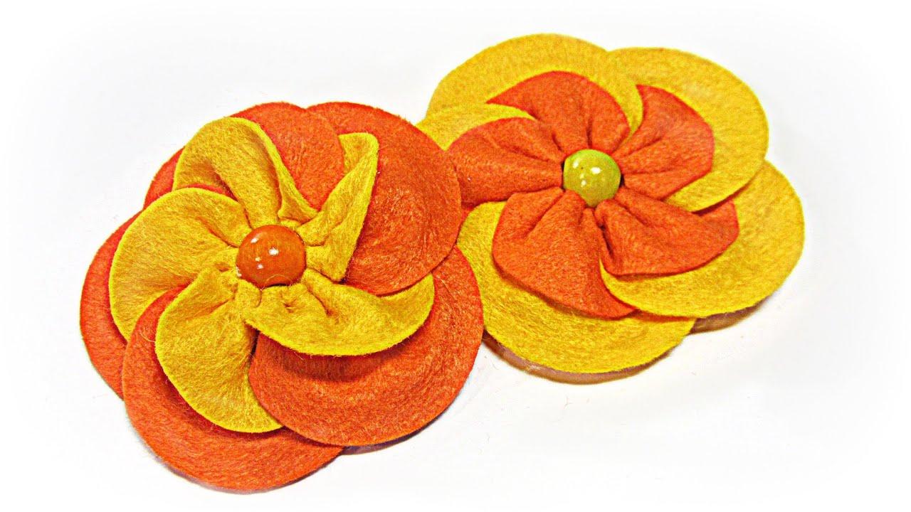 Como hacer flores f ciles de fieltro felt flower youtube - Www como hacer flores com ...